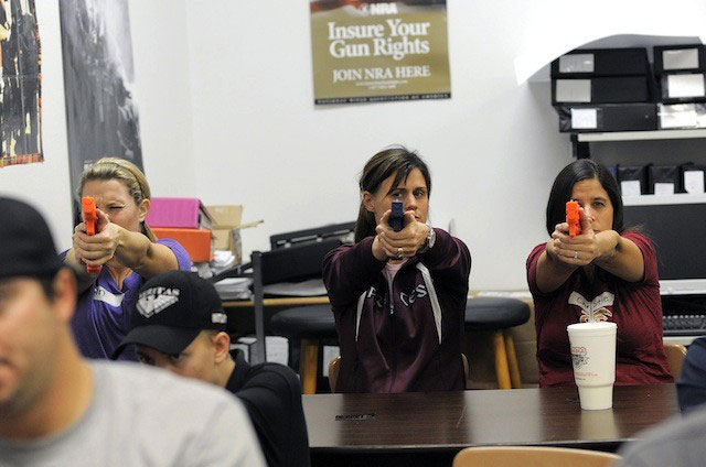 Some teachers are already being trained on how to use weapons in other parts of the country.