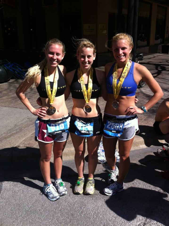 Amelia+Carine%2C+Abby+Carine+and+Nicolette+Morgan+Lee+ran+in+the+2013+Austin+Livestrong+marathon+on+Feb.+17.+Marathons+are+just+one+of+many+activities+Carine+participates+in.