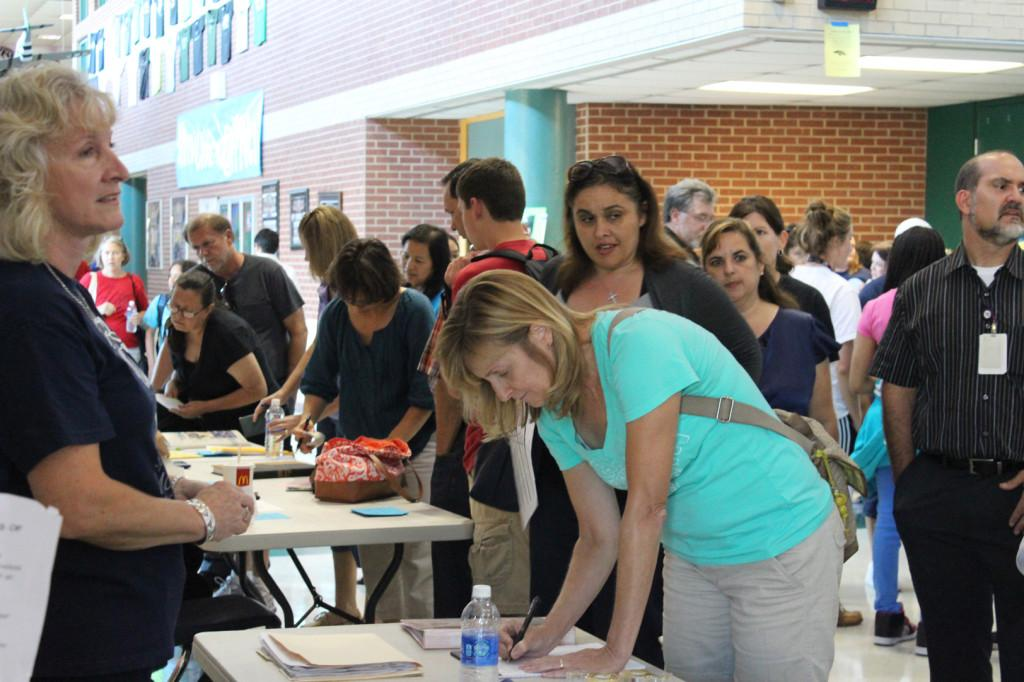 Parents who went to open house had the opportunity to  buy school spirit wear and sign up for the PTSA