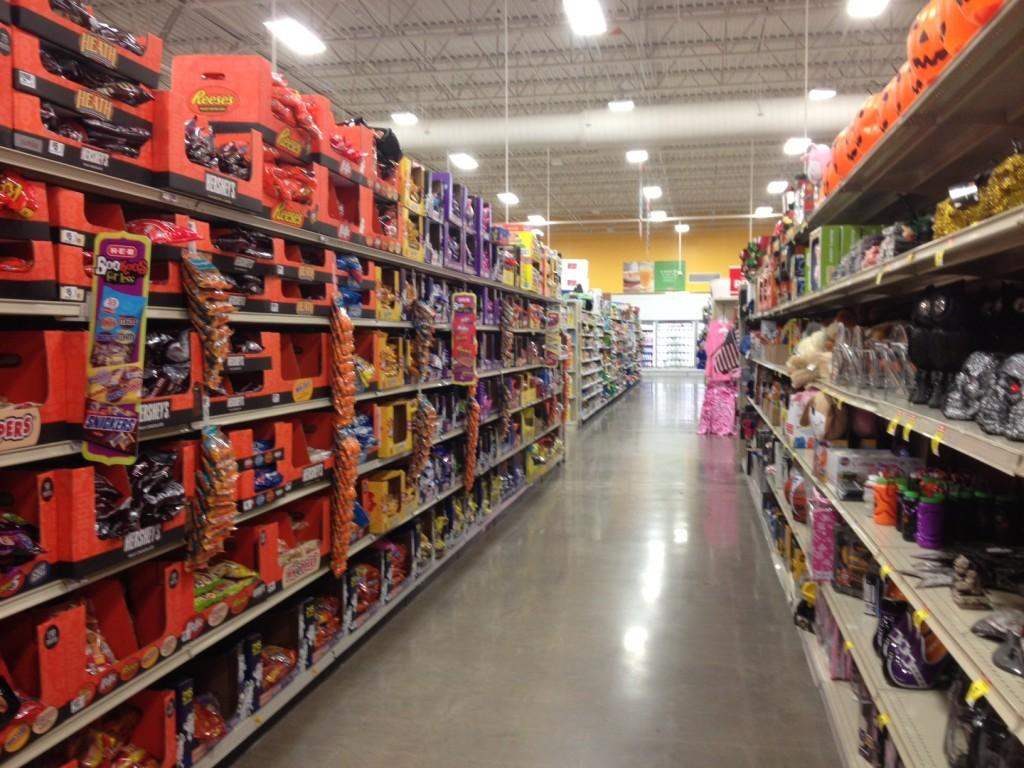 Stores are stocked with goodies in preparation for Halloween night.
