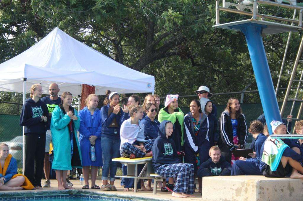 The swim team bonded over success and fun at the first meet of the season.