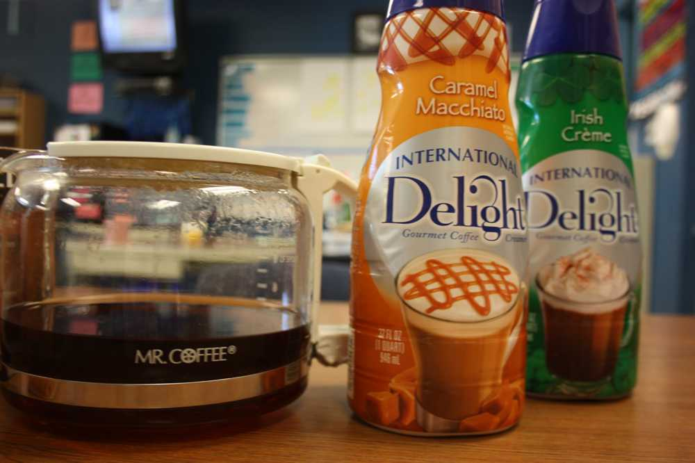 Coffee has various flavorings that allow it to be more appealing to students' taste buds.