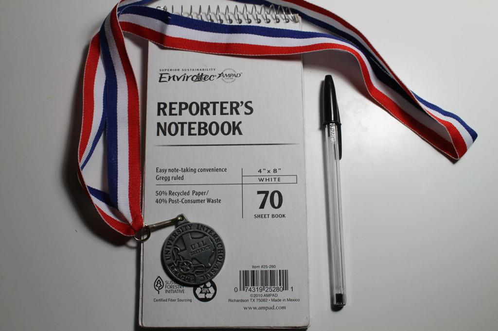 Second Place Medal won by reporter Nikki Eduave in Headline Writing