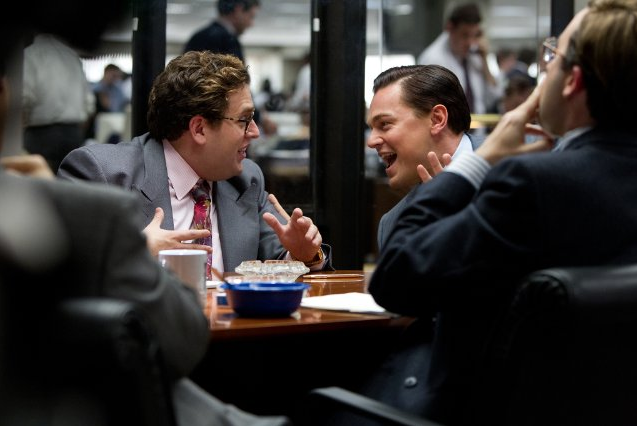 A+still+of+Jonah+Hill+and+Leonardo+DiCaprio++in+%22The+Wolf+of+Wallstreet%22+as+a+dynamic+and+destructive+duo.+