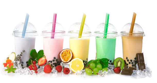 Bubble tea comes in a variety of flavors and colors