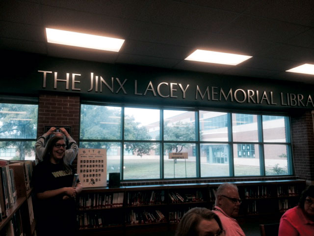 McNeil High renamed the library in memorial of a beloved counselor  Lacey Jinx.