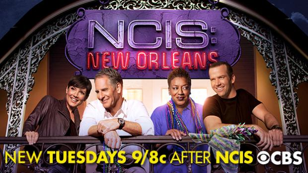 The new NCIS show, NCIS: New Orleans, is on Tuesday nights on CBS at 9/8c.