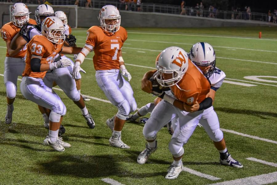 Although the Mavs lost the football game against Westwood 7-31, Westwood took the fall to McNeil in the clothing drive for the first time in years.