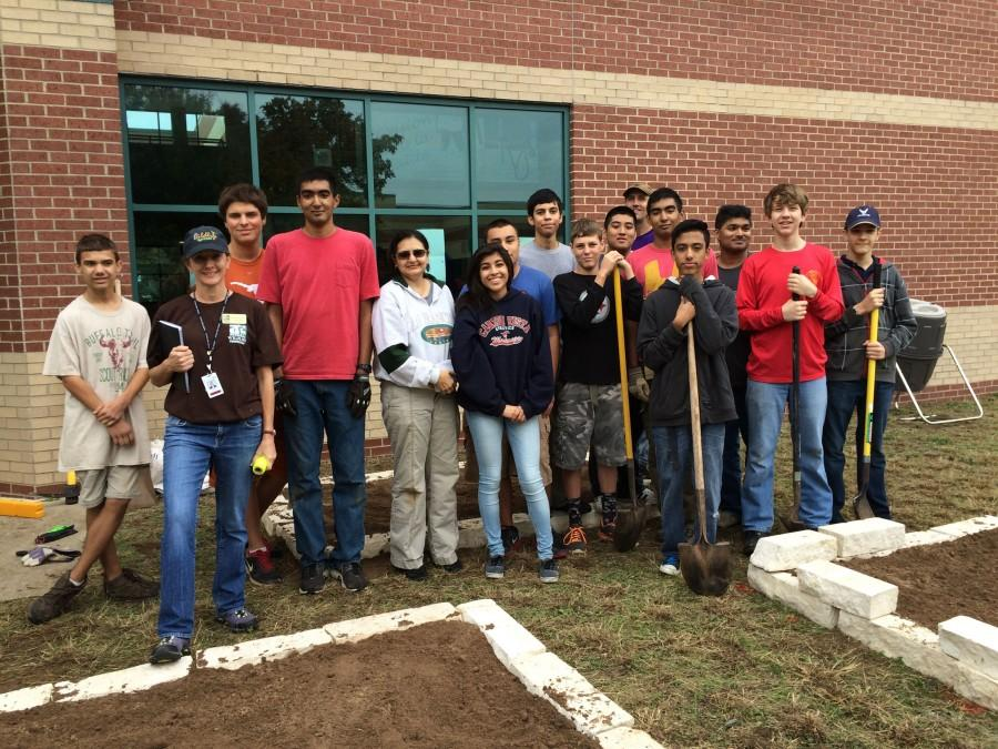 With help from his friends in Boy Scouts and ROTC, Eagle Scout candidate Ajay Nair built 3 garden beds. These beds will host native species of that will improve the suffering cave ecosystem.