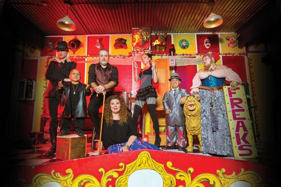 The freakshow gets ready to perform, with activities ranging from fire eating to death-defying acts. Todd Ray and his family started this business after being Ray's dissatisfaction with the music industry.