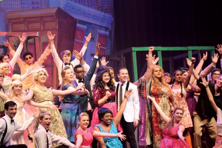 The cast of Hairspray ends their performance with a fun finish.
