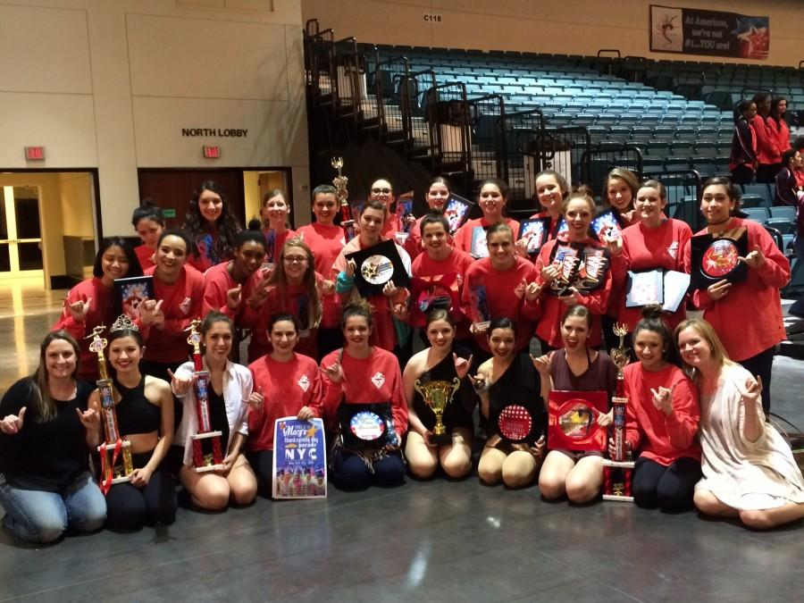 Majestics with their awards at the Galveston competition.