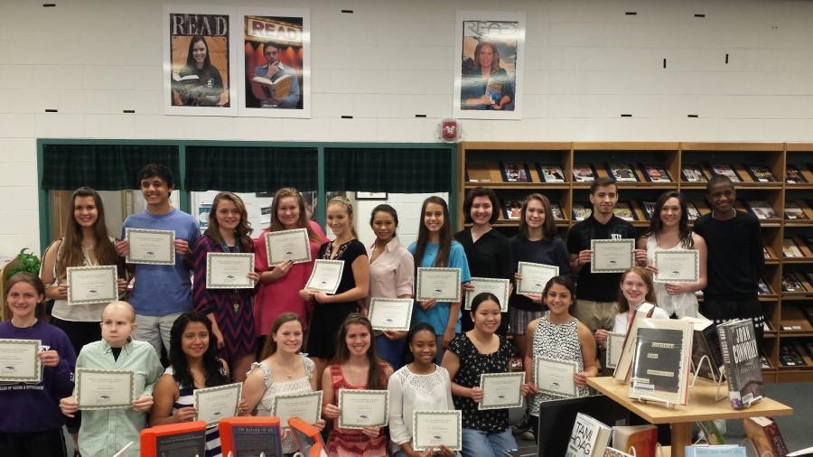 McNeil students receive the Social Studies Leadership award.