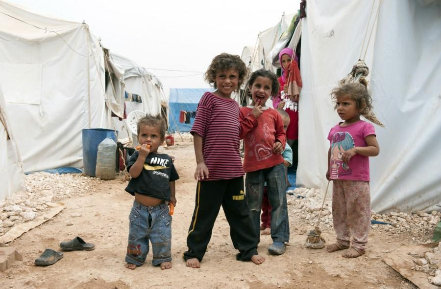 After fleeing the splintered remains of their town, Syrian children have nothing to do. At Camp