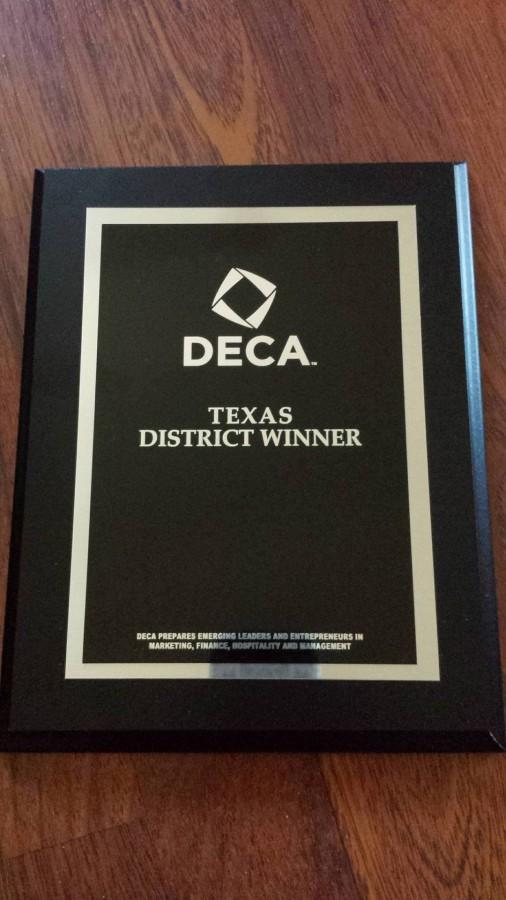 DECA District Plaque