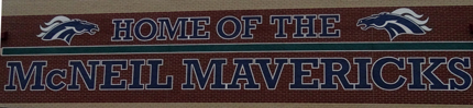 This wall is a symbol of school pride of the Mavs.