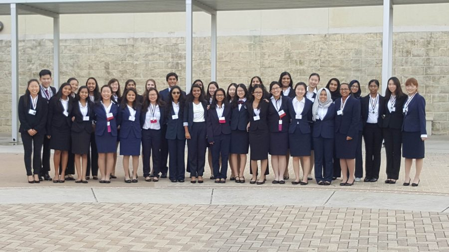 After the closing ceremony, McNeil competitors stand together to commemorate the outstanding results.