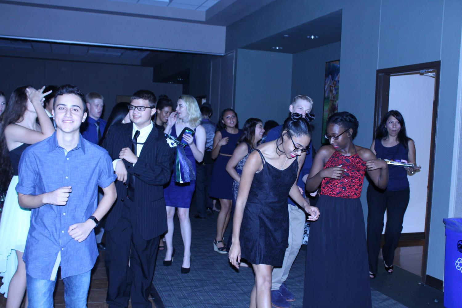 Students at the dance
