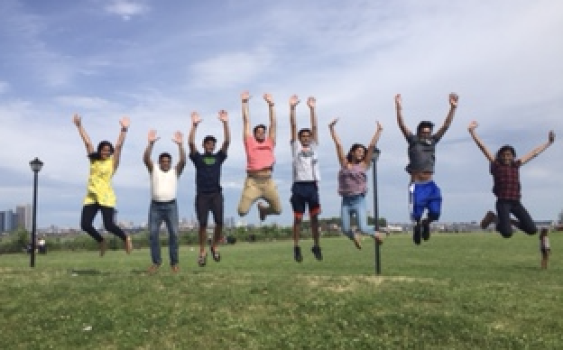 Senior Aditi Lavani and her cousins had a great time at a park in New York.