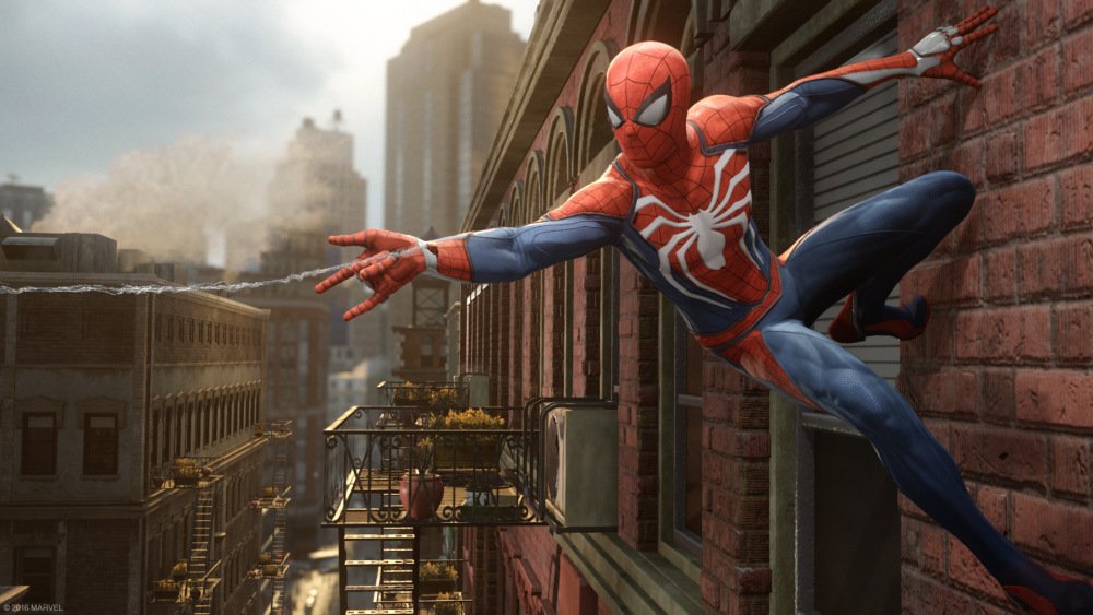 Screenshot from Spiderman game