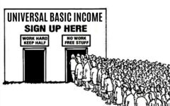 Pictured above: These lines would be insanely long, and there would be no way to control them. Everyone would sign up for this income and it would be a never ending cycle into national debt.