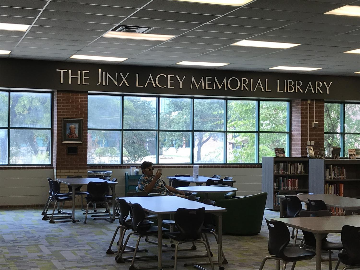 The Jinx Lacey Memorial Library before its book fair transformation
