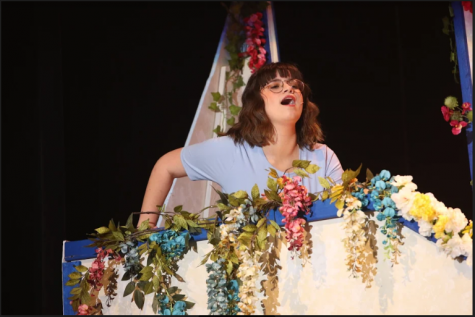 Senior Audrey Zambie performs in Mamma Mia.