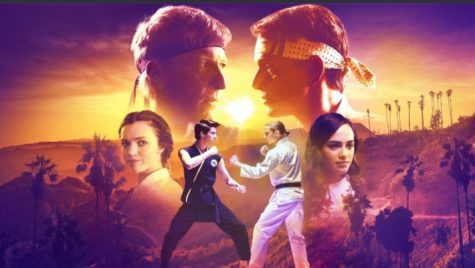 "Some of the main characters from ""Cobra Kai"" such as Johnny Lawrence (William Zabka), Daniel LaRusso (Ralph Macchio), Miguel Diaz (Xolo Mariduena), Robby Keene (Tanner Buchanan), Samantha LaRusso (Mary Mouser) and Tory Nichols (Peyton List).  Image courtesy of Netflix: https://www.netflix.com/title/81002370"