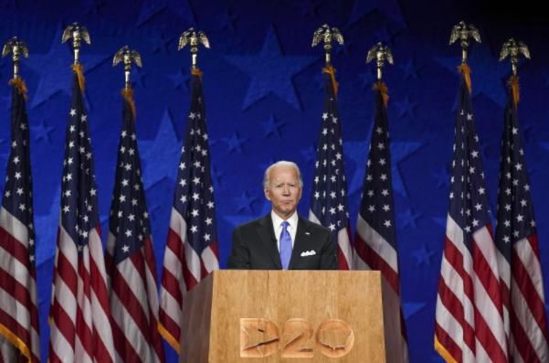 Joe Biden speaks at the 2020 Democratic National Convention