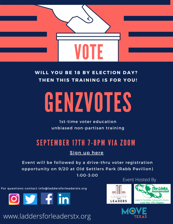 Ladders for Leaders is holding a first time voter education event.
