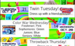 This year's homecoming dress up themes.