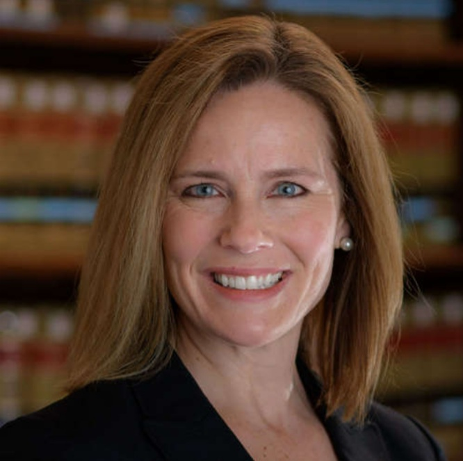 The newest Justice to the U.S. Supreme Court, Amy Coney Barrett.