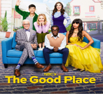 "The main characters from ""The Good Place."""