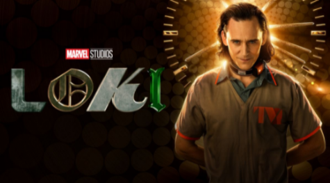 This is the logo for the TV show, Loki, now available to stream on Disney+.
