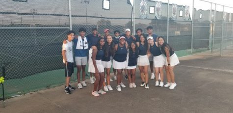 The Mav tennis team after their Sept. 29 victory at home