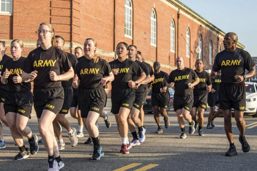 The U.S. Army Birthday Run included an infantry regiment.